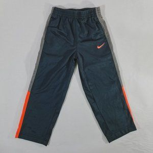 Nike Swoosh Grey & Orange Elastic-Waist Pants